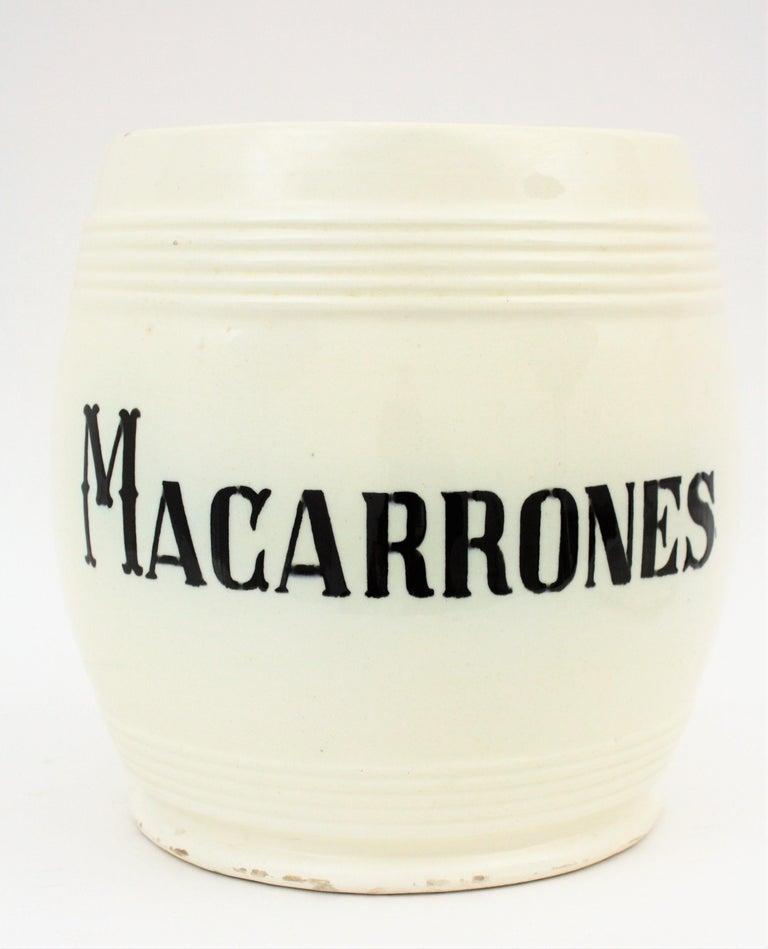 Spanish Glazed Ceramic Storage Jars / Kitchen Pottery Canisters For Sale 6