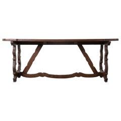 Spanish 19th Century Oak Table