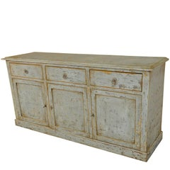 Spanish 19th Century Painted Buffet