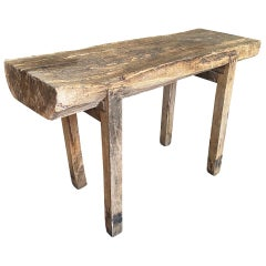 Spanish 19th Century Primitive Work Table, Butcher Table