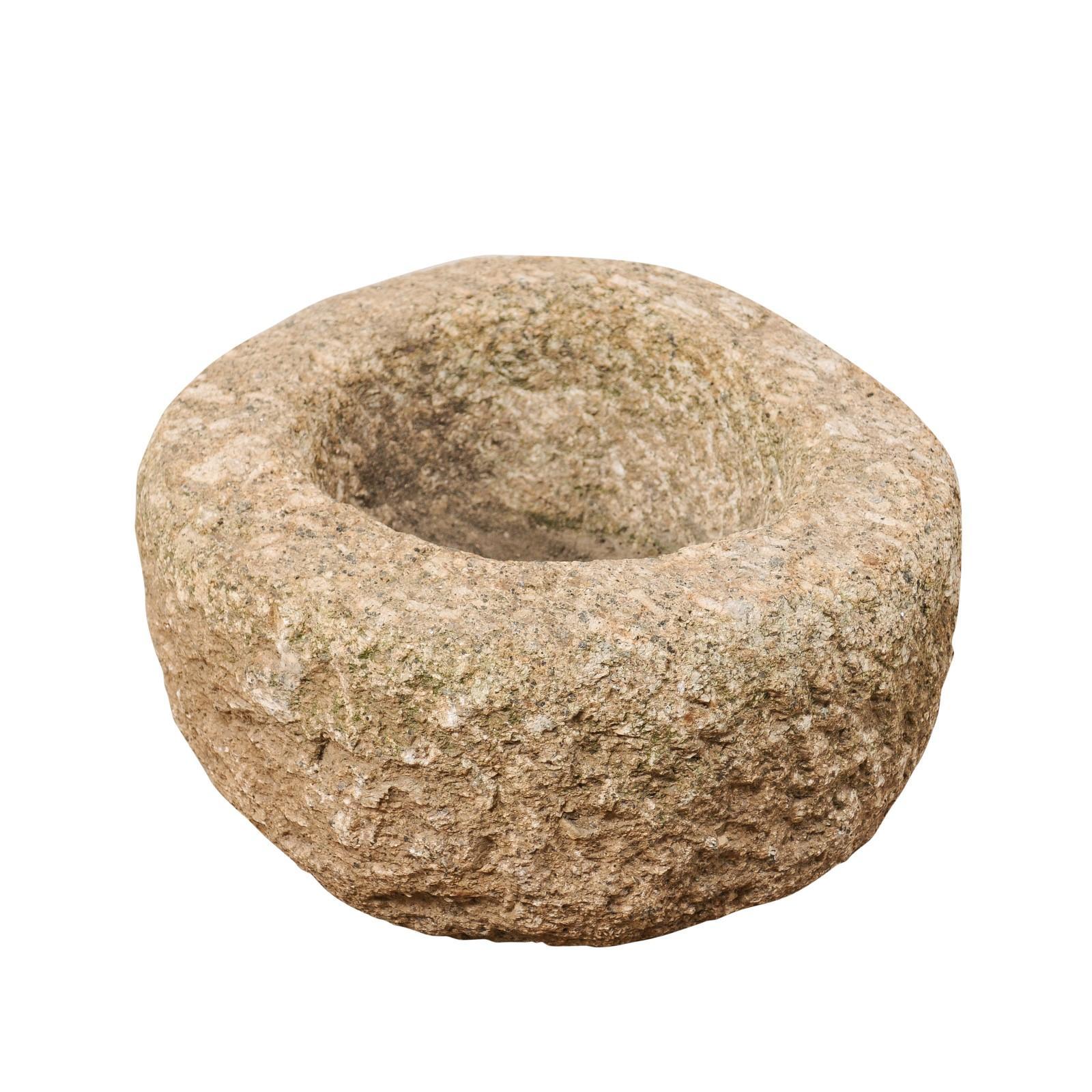 Spanish 19th Century Round Stone Vessel