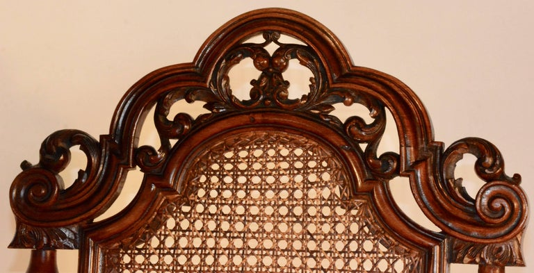 Spanish Baroque High Back Chairs, Pair For Sale 2