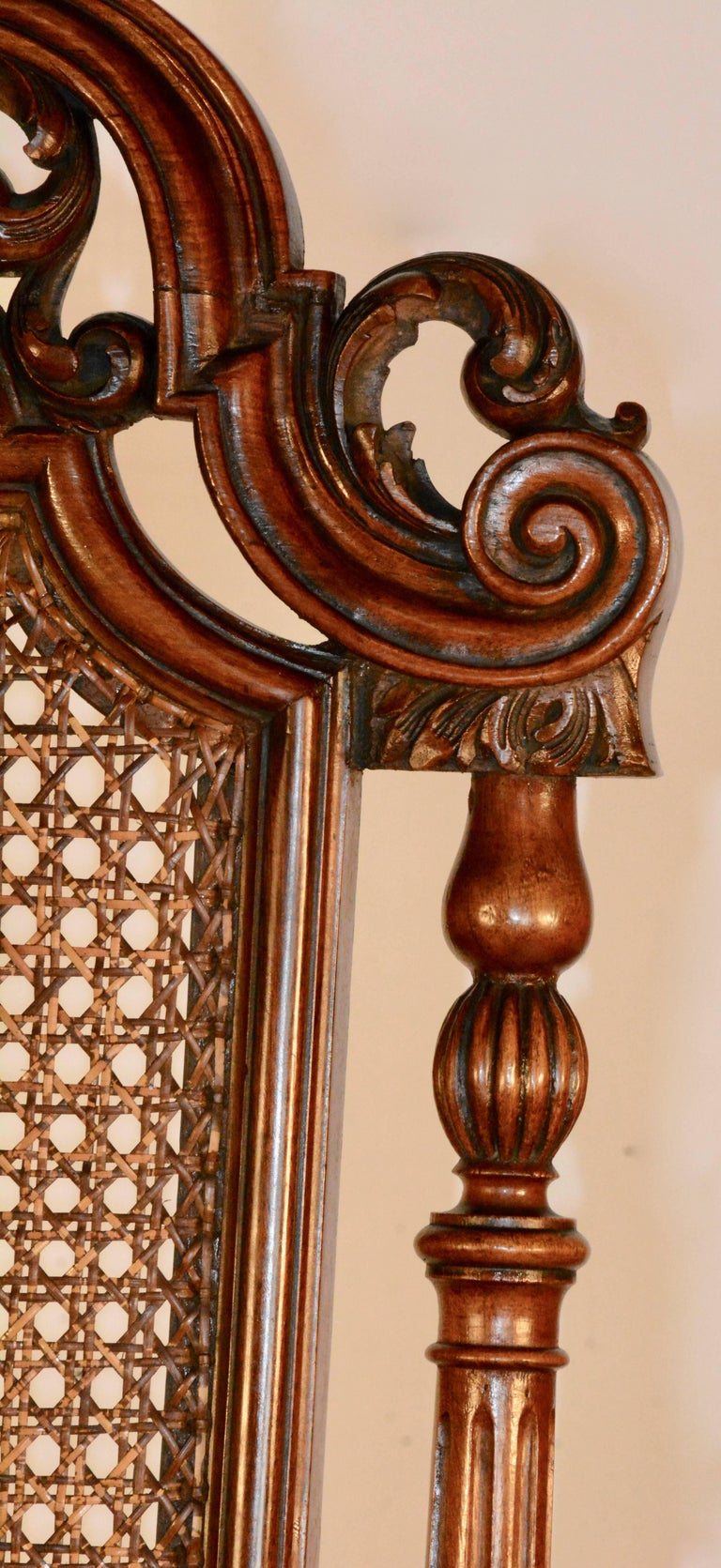 Spanish Baroque High Back Chairs, Pair For Sale 3