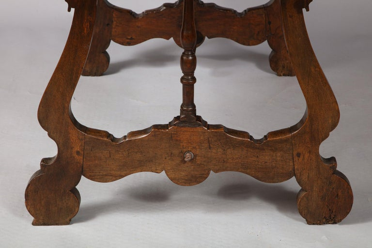 Spanish Baroque Walnut Table For Sale 7