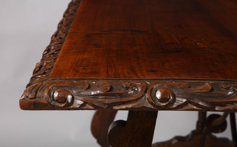 Spanish Baroque Walnut Table For Sale 8