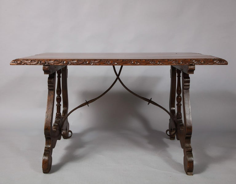 Spanish Baroque Walnut Table For Sale 9