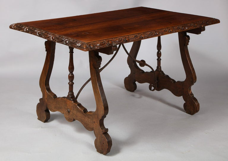 Spanish Baroque Walnut Table For Sale 10