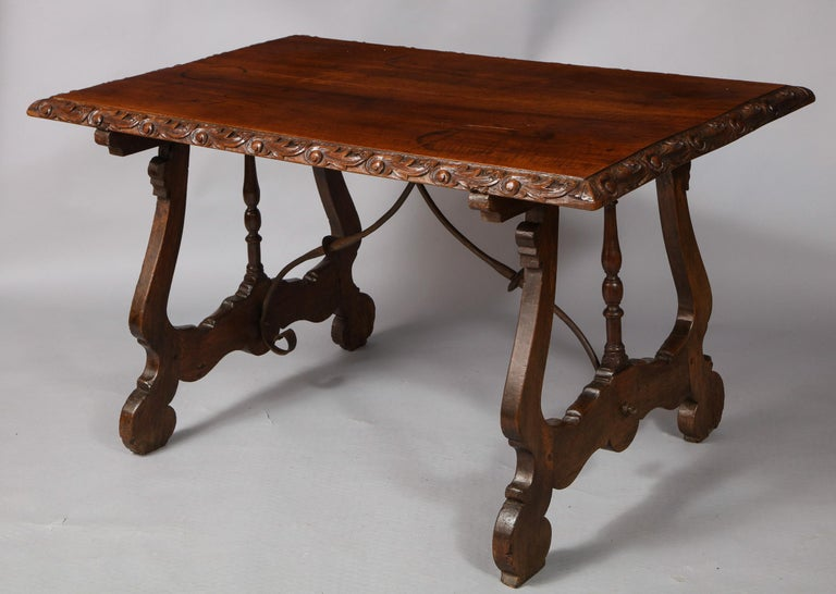 Spanish Baroque Walnut Table For Sale 1