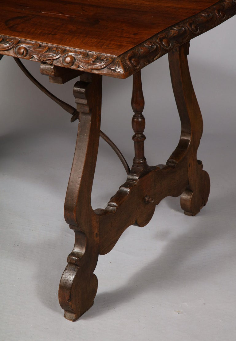Spanish Baroque Walnut Table For Sale 2