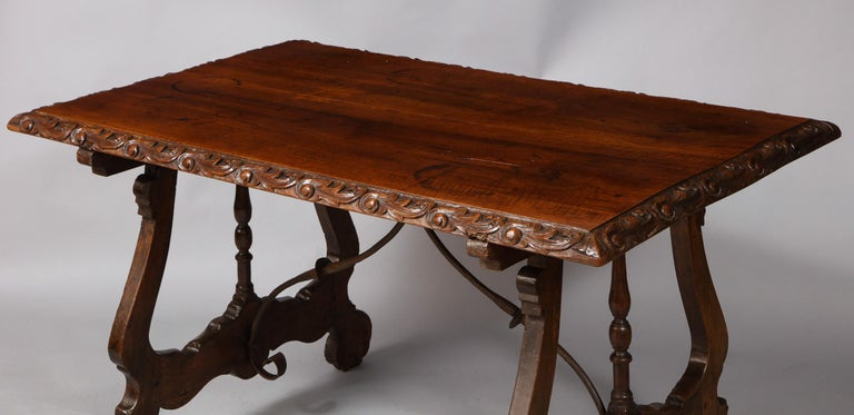 Spanish Baroque Walnut Table For Sale 3