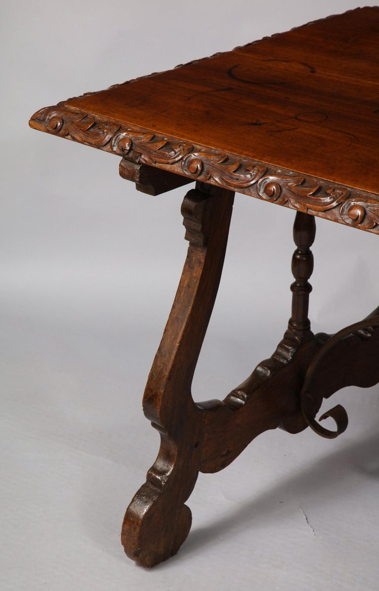 Spanish Baroque Walnut Table For Sale 4