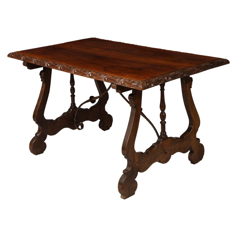 Spanish Baroque Walnut Table For Sale