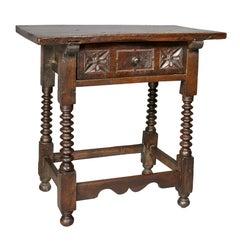 Spanish Baroque Walnut Table