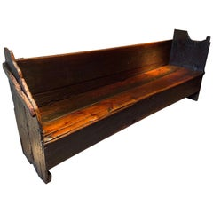 Spanish Bench in Pine with a Great Patina