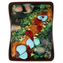 Spanish Box with Enamel Copper Decoration by Capo Esmaltes, c. 1960s