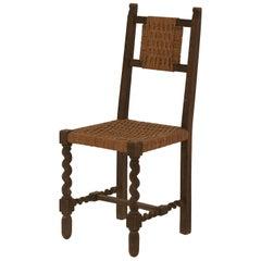 Spanish Braided Rush Barley Twist Chair