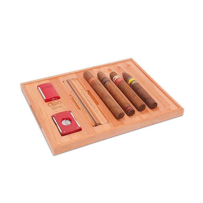 Italian Spanish Cedar Cigar Tray, by Massimo de Munari, Handmade in Italy For Sale