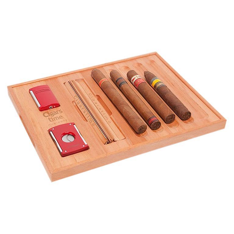 Spanish Cedar Cigar Tray, by Massimo de Munari, Handmade in Italy For Sale