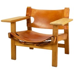 Spanish Chair Model BM2226 by Børge Mogensen for Fredericia, Denmark, 1960s