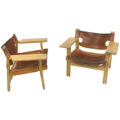 Spanish Chairs by Børge Mogensen, Pair of 2