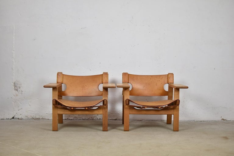 Danish 'Spanish' Chairs by Børge Mogensen for Fredericia, Denmark, 1950s For Sale
