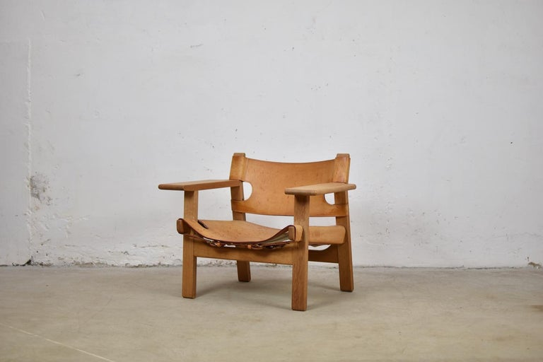 'Spanish' Chairs by Børge Mogensen for Fredericia, Denmark, 1950s In Good Condition For Sale In Antwerp, BE