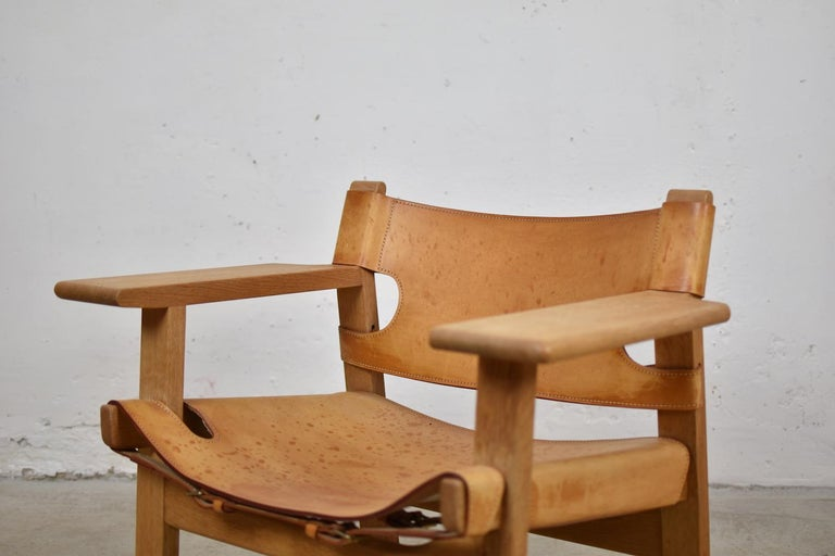 Mid-20th Century 'Spanish' Chairs by Børge Mogensen for Fredericia, Denmark, 1950s For Sale