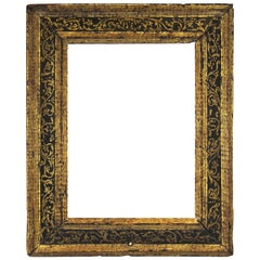 Spanish Colonial Baroque Giltwood Frame with Raised Gold Relief Border