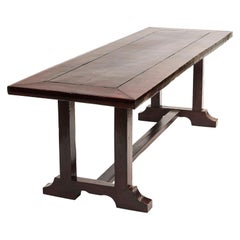 Spanish-Colonial Hardwood Long Dining Table from the Philippine, Baroque Style