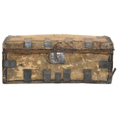 Spanish Colonial Hide Covered Trunk, 19th Century