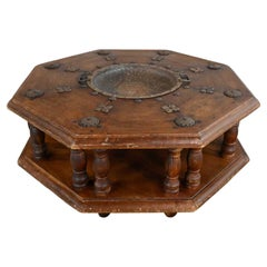Spanish Colonial Revival Rustic Octagon Brazier Coffee Table Style Artes De Mexi