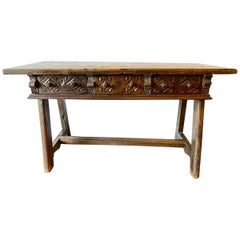 Spanish Colonial Writing Table/Console, circa 18th-19th Century