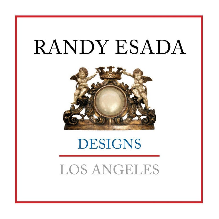 Spanish Colonial wrought iron five-light chandelier by Randy Esada.
