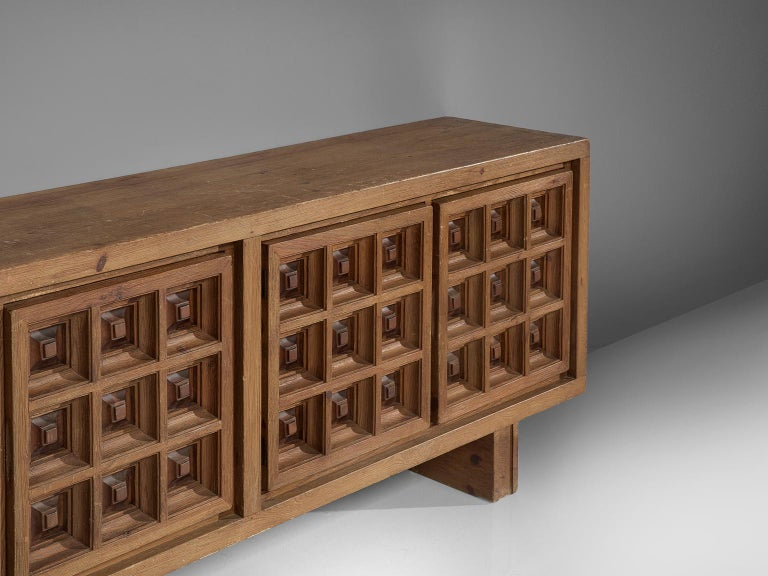 Spanish Sideboard in Stained Pine Manufactured by Biosca For Sale 1