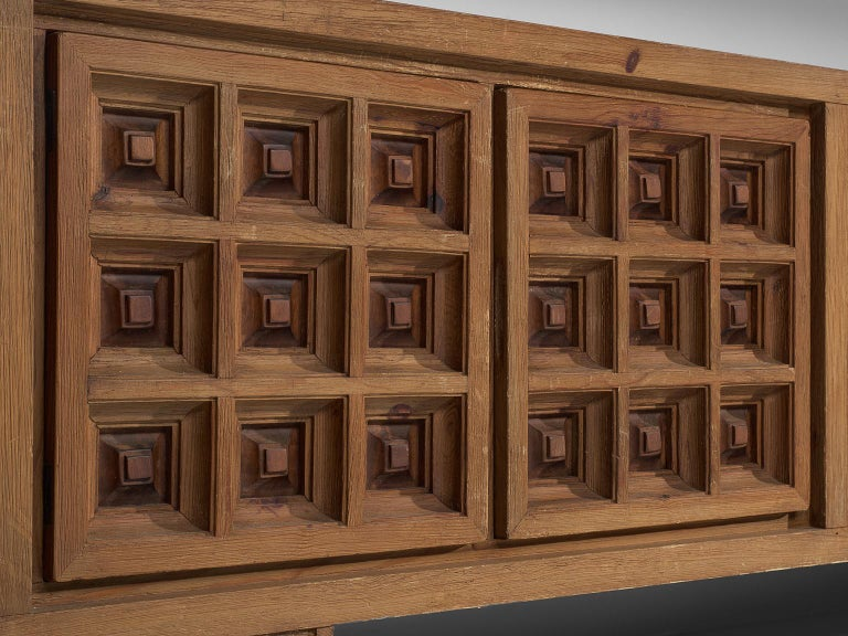 Spanish Sideboard in Stained Pine Manufactured by Biosca For Sale 3