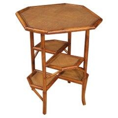 Spanish Design Coffee Table in Bamboo Wood