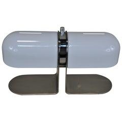 Spanish Double Light Modern 1960s Adjustable Shade Desk Lamp