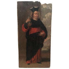 Spanish Early 17th Century Painting on Board