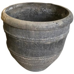 Spanish Early 19th Century Black Terracotta Urn, Planter