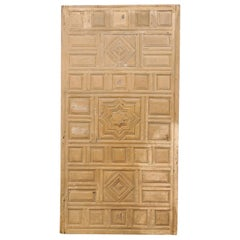 Spanish Geometric-Carved Wall Panel- Would Make a Great Headboard!