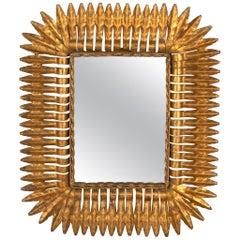 Spanish Gilt Metal Sunburst Mirror