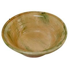 Spanish Glazed Terracotta Bowl