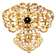 Spanish Gold and Diamonds Lace Pendant from the 18th Century