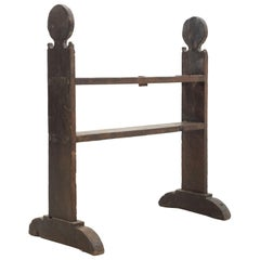 Spanish 'Hachero' Traditional Ancient Wood Candelholder, circa 1890
