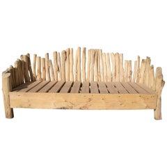 Spanish Hand Made Wooden Garden Sofa
