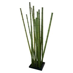Spanish Hand Painted Iron Bamboo Sculpture
