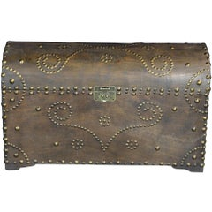 Spanish Inspired Dome Top Storage Blanket Trunk Hope Chest Treasure Riveted