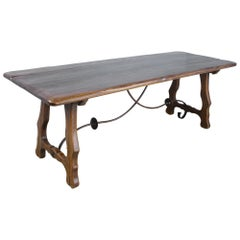 Spanish Iron Based Oak Table