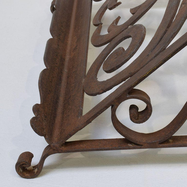 Spanish Late 19th Century Hand Forged Iron Lectern For Sale 10