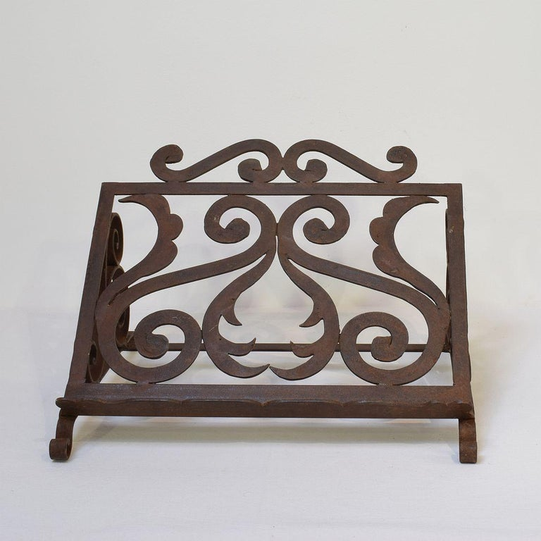 Spanish Late 19th Century Hand Forged Iron Lectern In Good Condition For Sale In Amsterdam, NL